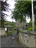 SK2375 : Gate to the churchyard, Stoney Middleton by David Smith