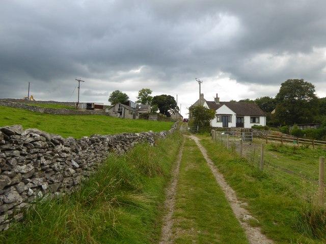 Farm track east of Eyam