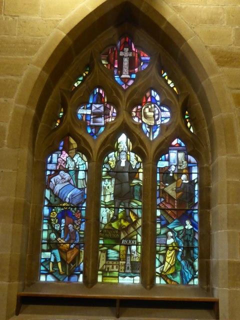 The Plague window, Eyam church