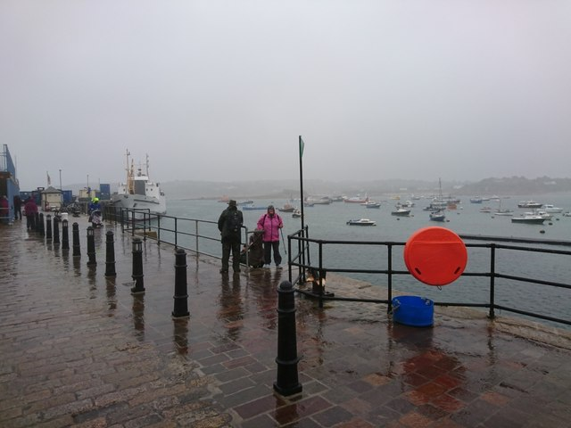 Wet day at The Quay