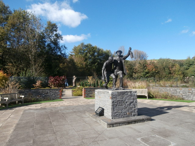 Sculpture in the Welsh National and Universal Mining Memorial Garden, Senghenydd