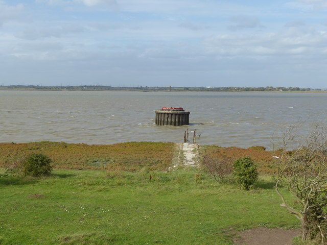 Old lighthouse seen from the Saxon Shore Way