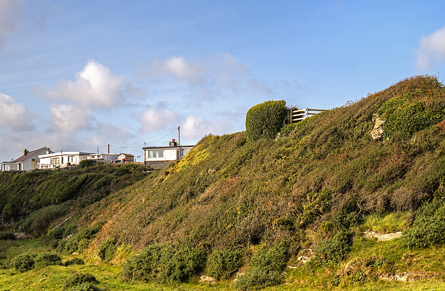 North Wales WWII defences: Trearddur, Anglesey - pillbox (1)