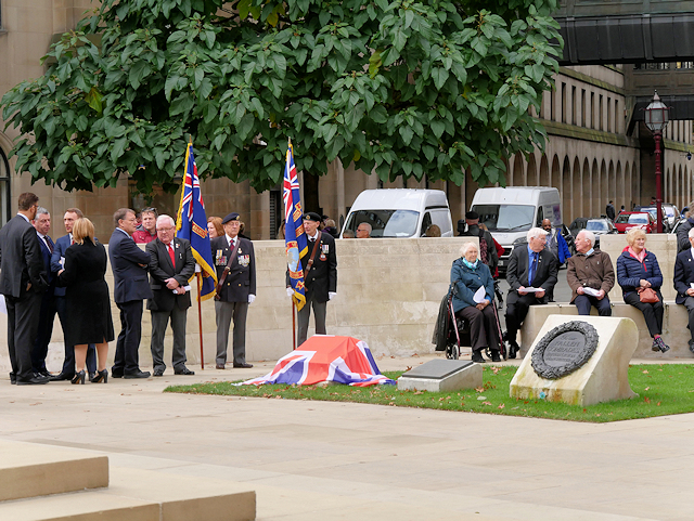 Unveiling of Nuclear Test Veterans Memorial, Manchester