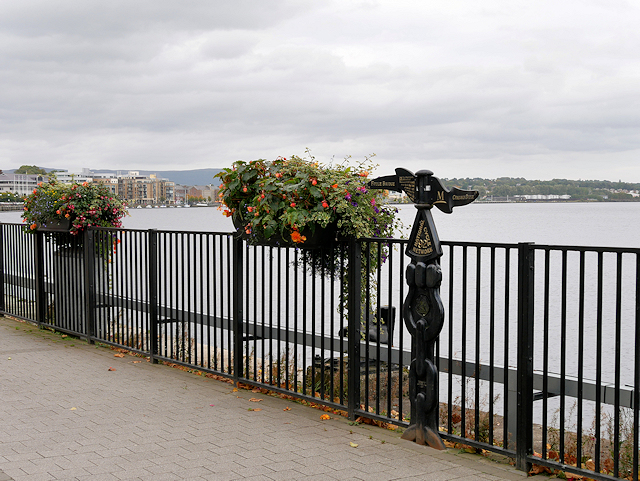 National Cycle Network Milepost next to the Foyle