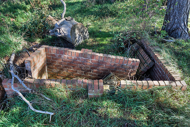 WWII Shropshire: RAF Rednal - Fire Trench (12)