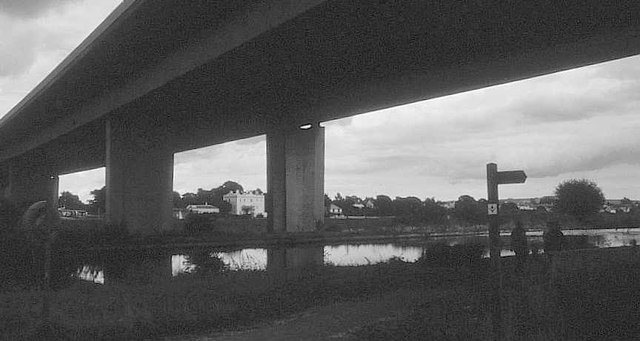 M5 viaduct crossing Exeter Canal, 2000