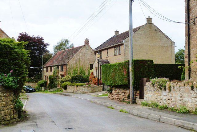 Houses in Farm Street, Tintinhull, Somerset