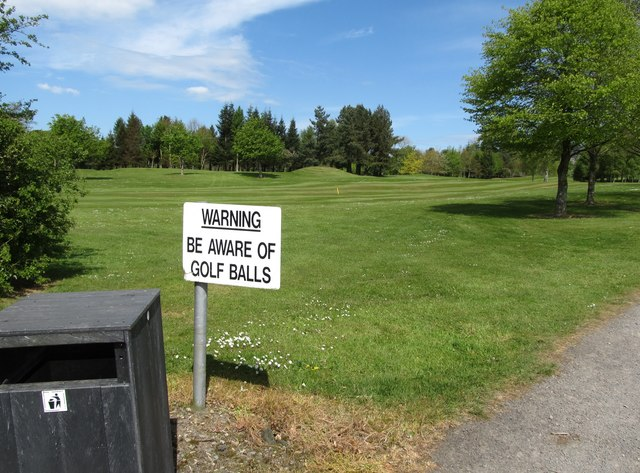 Prudent advice to tomb visitors following the permissive path across the greens