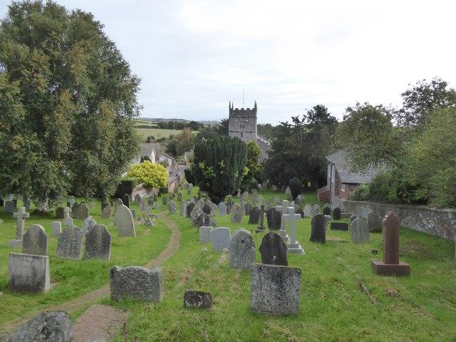 Thorverton churchyard