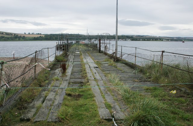 The old pier at Nigg Ferry
