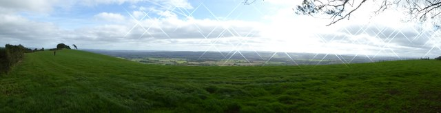 Panorama south from Raddon Hills
