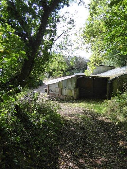 Farm building at Raddon Hill Farm