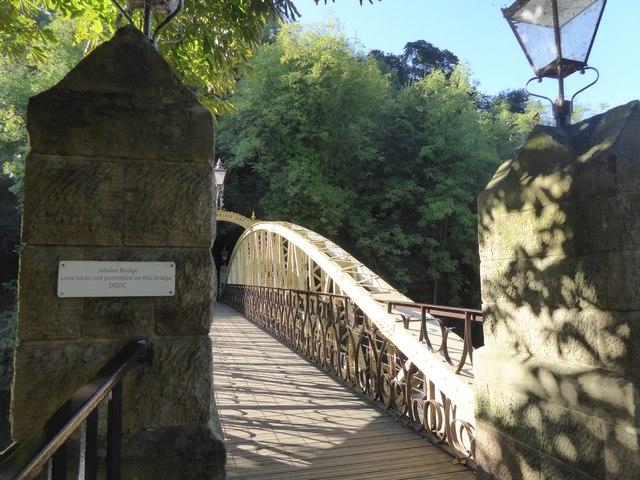 Jubilee Bridge over Derwent, Matlock Bath