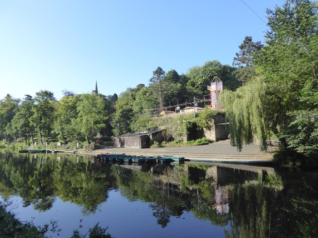 Boats for hire on River Derwent, Matlock Bath