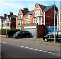 ST3188 : Two black taxis, Caerleon Road, Newport by Jaggery