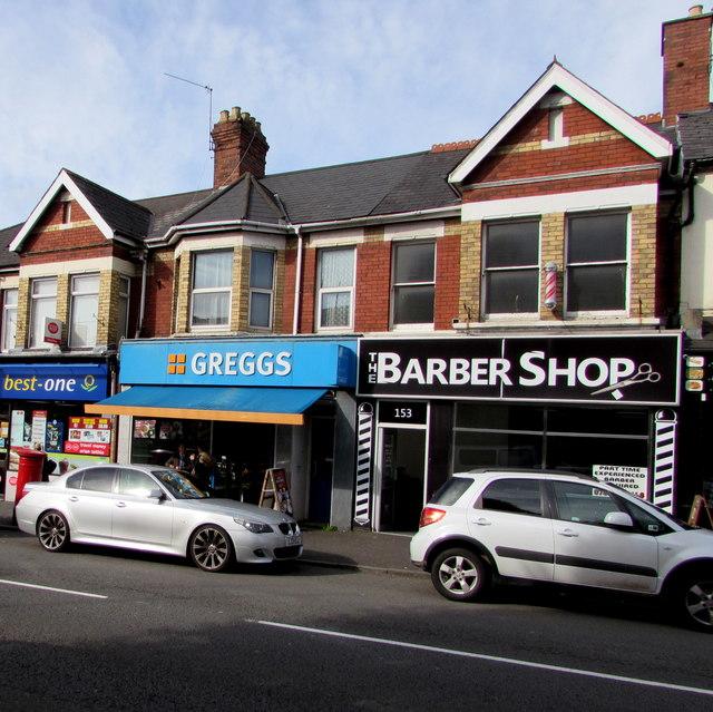 The Barber Shop and Greggs, Caerleon Road, Newport