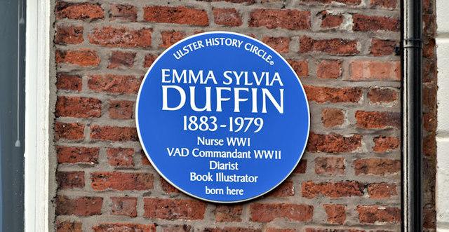 Emma Sylvia Duffin plaque, Belfast (October 2017)