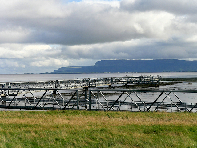 Light Gantry in Lough Foyle