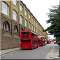 TQ3083 : Buses in York Way by John Sutton
