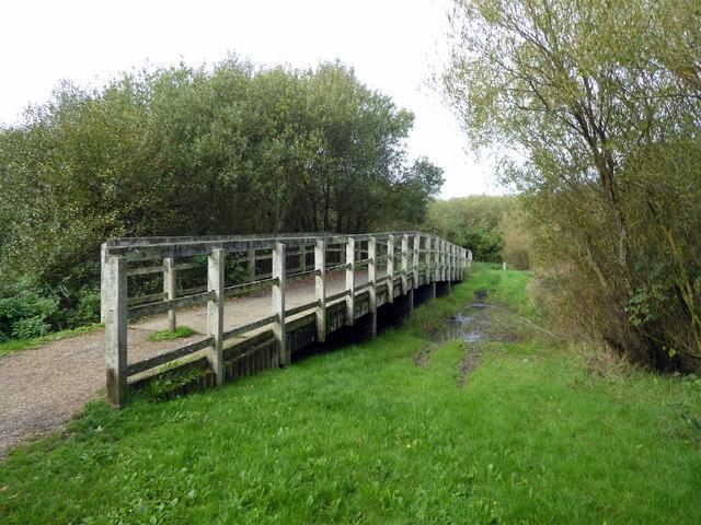 Footbridge in Shinewater Park