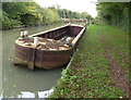SP3995 : Old barge along the Ashby Canal by Mat Fascione