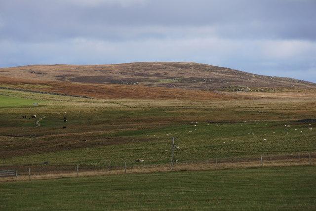 View to Vord Hill from Uyeasound