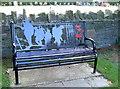 ST6469 : War memorial seat by Neil Owen