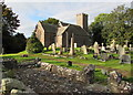SO3417 : Church and churchyard, Llanddewi Skirrid by Jaggery