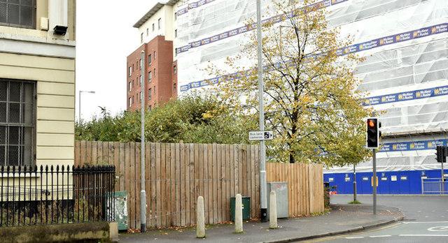 Development site, 4 College Square North, Belfast (October 2017)