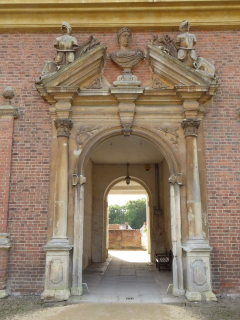 Arched entrance to the Stable Block at Tredegar House