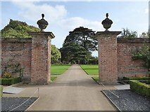 ST2885 : Pillars in the garden of Tredegar House by Philip Halling