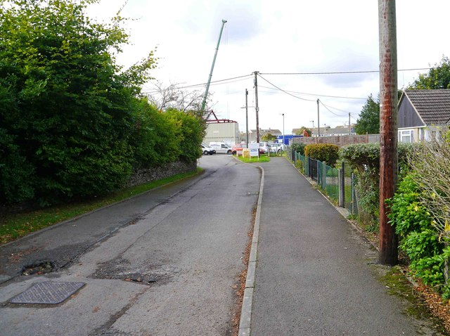Access road to car park etc., Lechlade on Thames, Glos