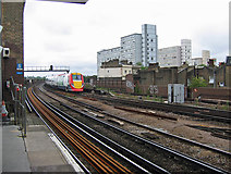 TQ2876 : Battersea Park Station - looking south by Ian Taylor