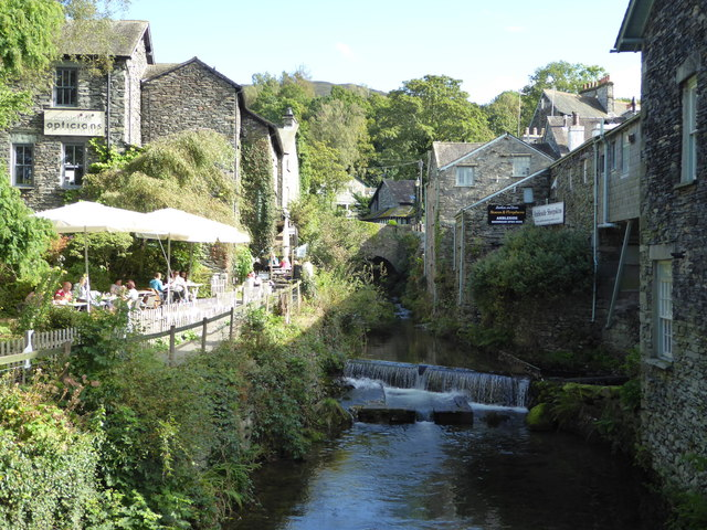 Ambleside - weir and former mills