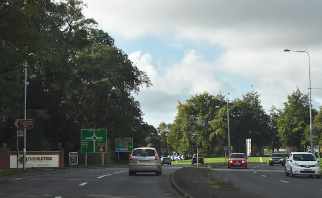 A41 roundabout at Hoole from A56