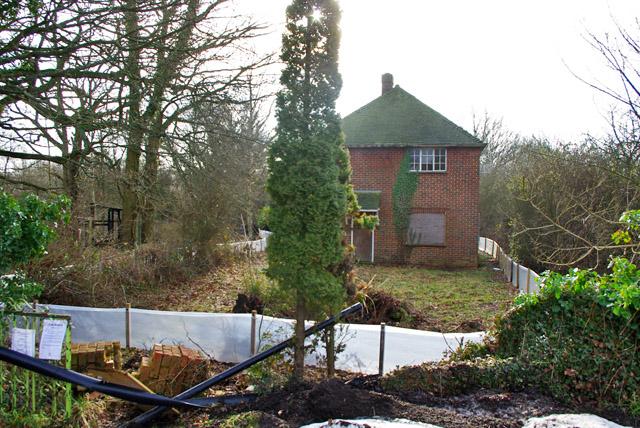 Empty house at former Crowhurst Brickworks