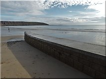 TA1280 : At Coble Landing, Filey looking to Filey Brigg by Neil Theasby