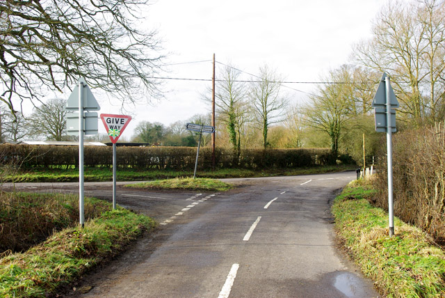 Junction of Park Road and Crowhurst Lane