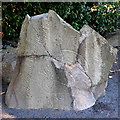 NJ7522 : Another view of the Brandsbutt Stone by Bill Harrison