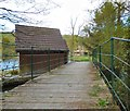 SJ9687 : Pedestrian entrance to Roman Lakes Leisure Park by Gerald England