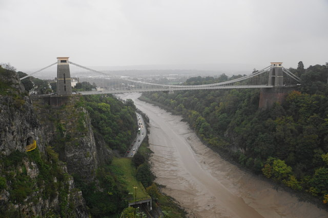 Clifton Suspension Bridge on a wet day