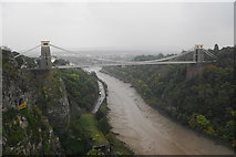 ST5673 : Clifton Suspension Bridge on a wet day by Bill Boaden