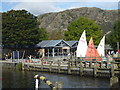 SD3096 : Coniston Ferry Landing from the Steam Yacht Gondola by Chris Allen