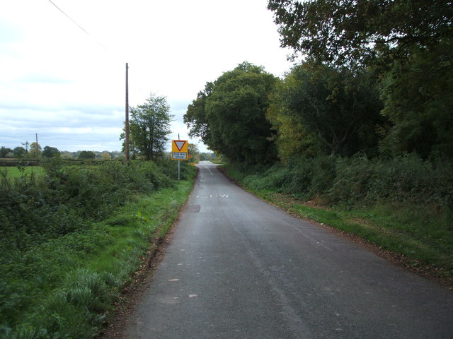 Anslow Road near Blackbrook Farm