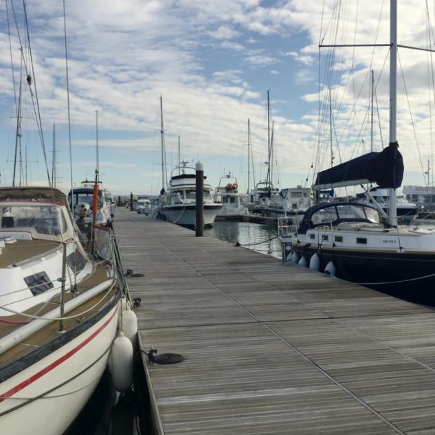 Wide pontoon, Portland Marina