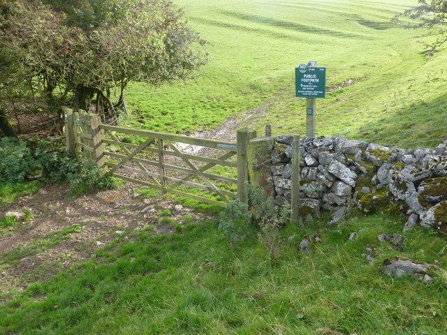 Peak & Northern Footpaths Society sign #460