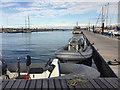 SY6874 : Inflatable craft, Portland Marina by Robin Stott