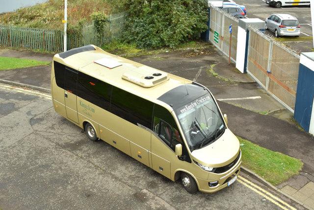 Kingdom Coaches minibus, Sydenham, Belfast (October 2017)