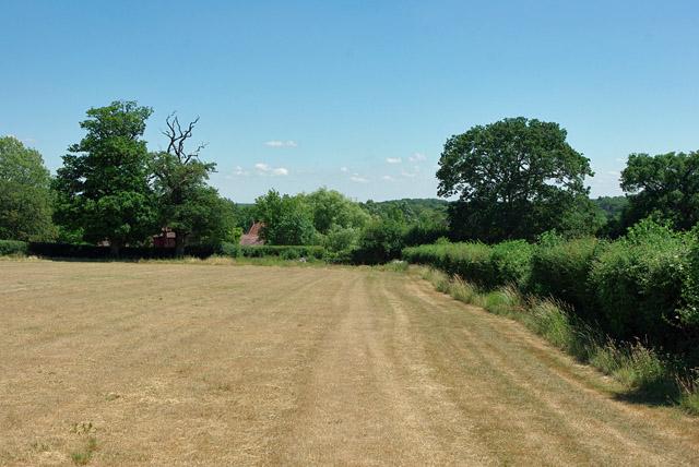 Footpath towards Dene Farm